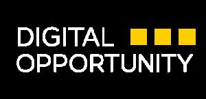 Digital Opportunity White Logo